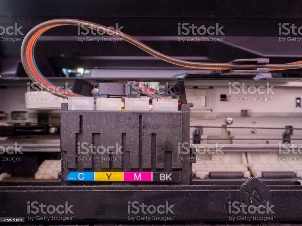 Ink printer with a long stock photo