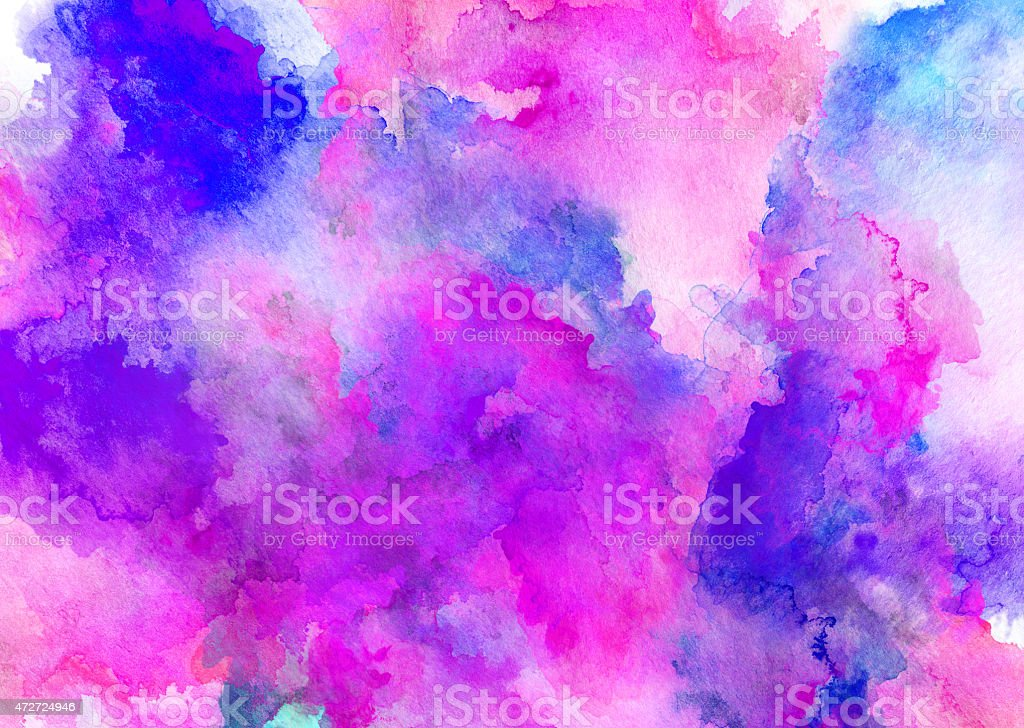 ink puprle watercolor full background stock photo
