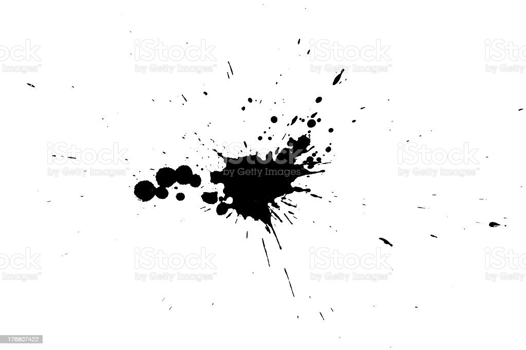 ink splash 2 stock photo