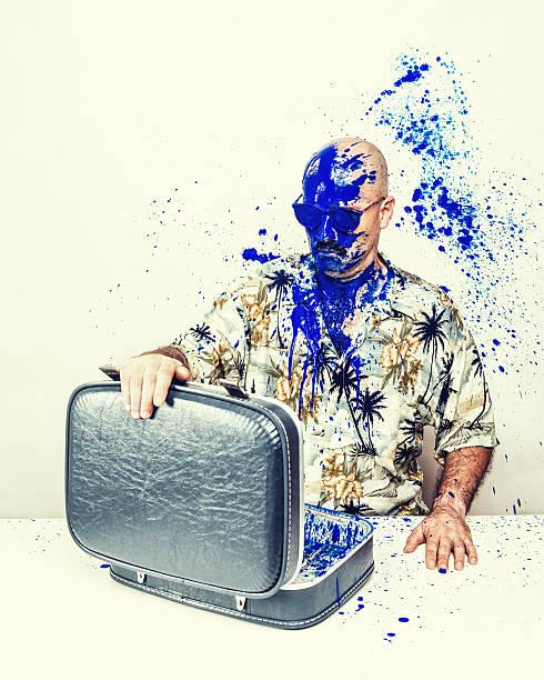 encre splash - valise humour photos et images de collection