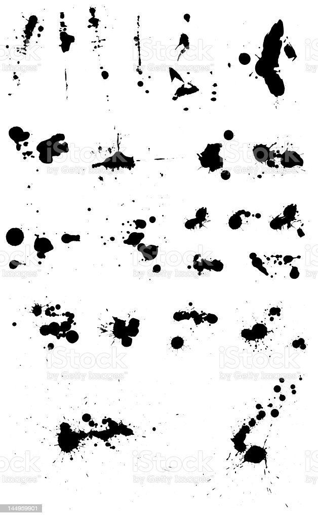 Ink Splat Collection 01 royalty-free stock photo