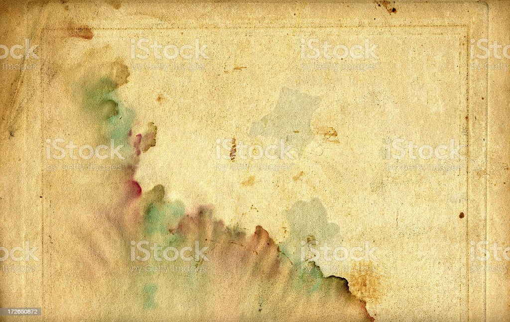 ink stained paper royalty-free stock photo