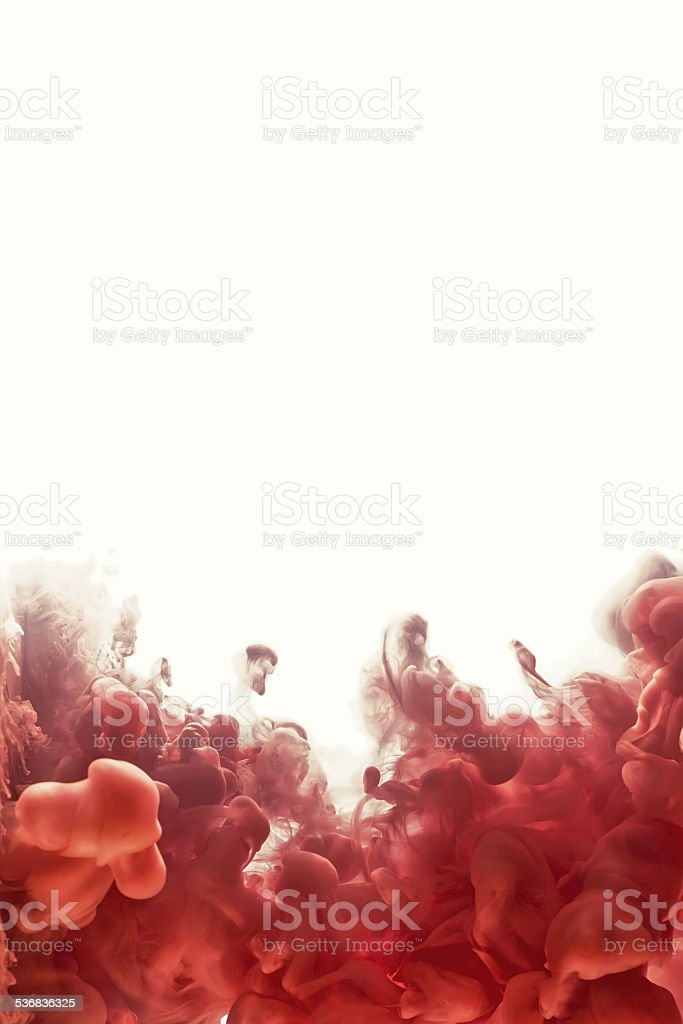 Ink swirling in water. Abstract banner paints. stock photo