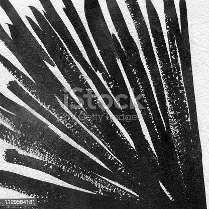 598092096istockphoto Ink Texture in Black & White hand-drawn design 1129564131