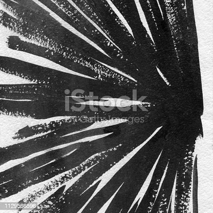 598092096istockphoto Ink Texture in Black & White hand-drawn design 1129566596
