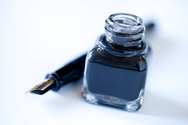 ink well and pen - ink well stock photos and pictures