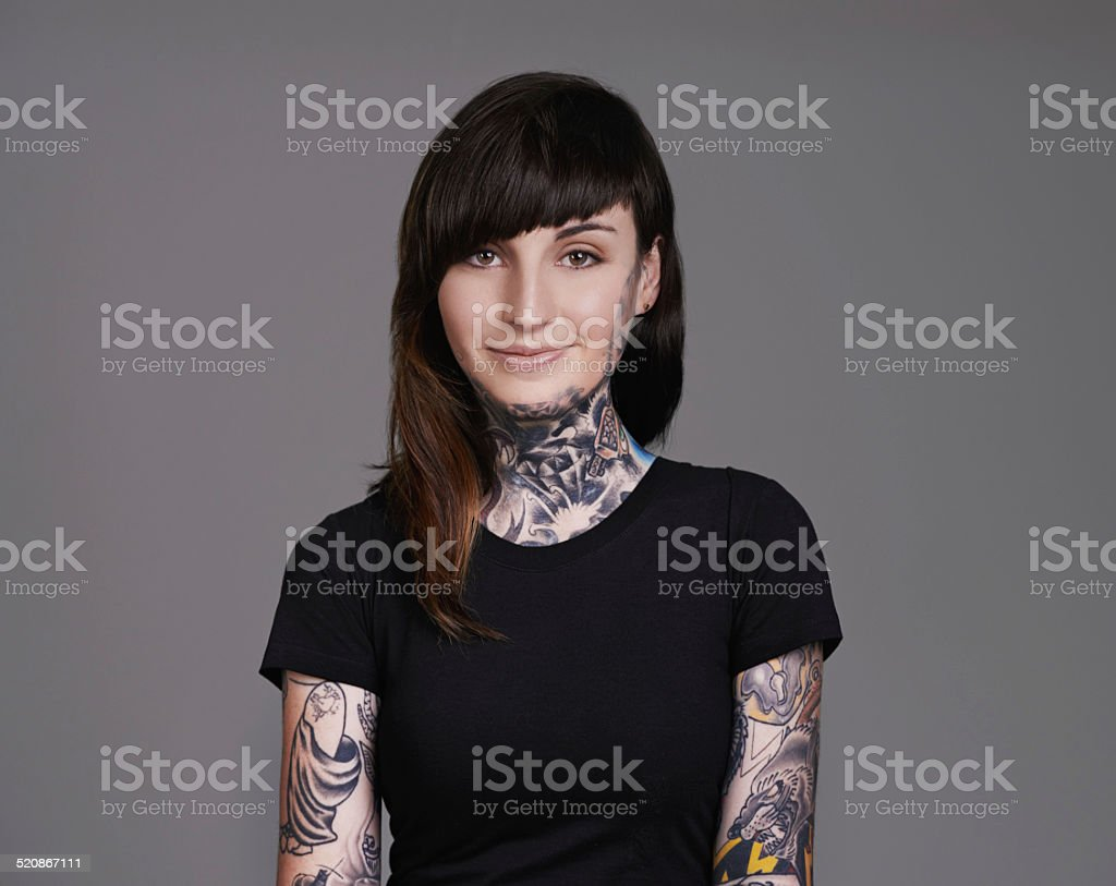 Inked in unique stock photo