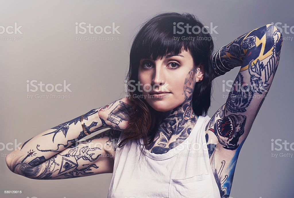 Inked to perfection stock photo