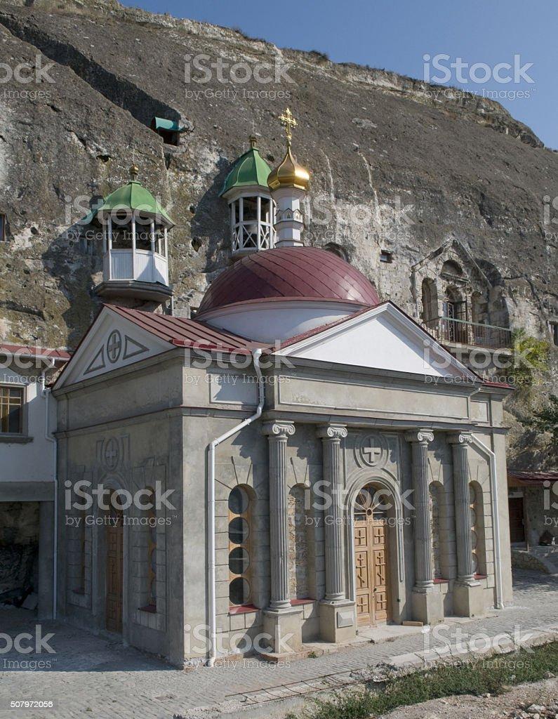 Inkerman Cave Monastery stock photo