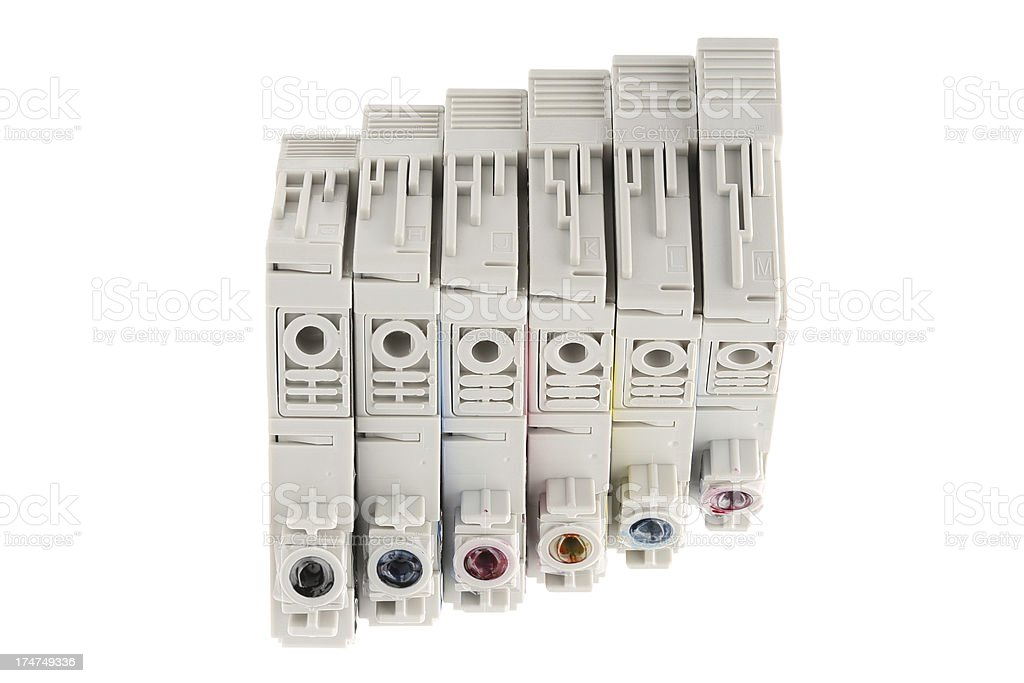Inkjet cartridges royalty-free stock photo