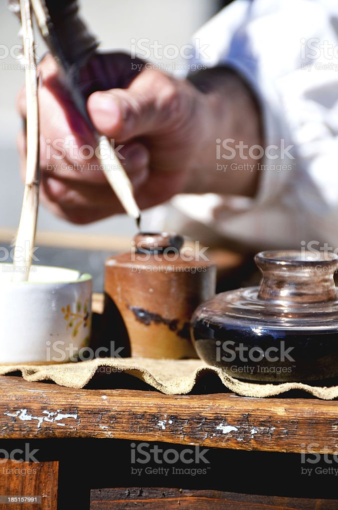 Inkwell stock photo
