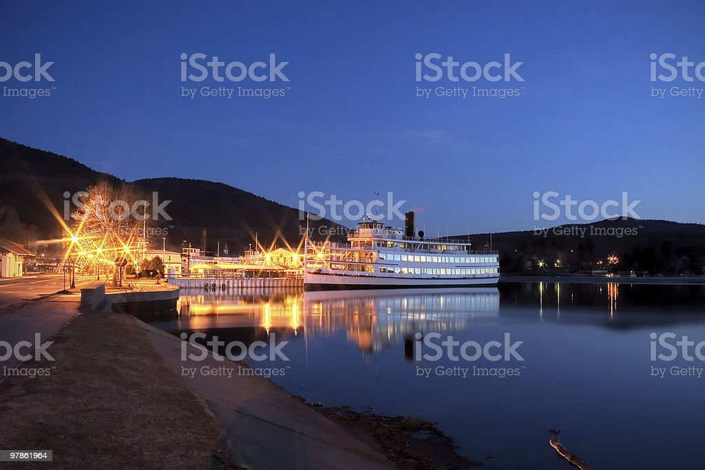 Inland Cruise Ship stock photo