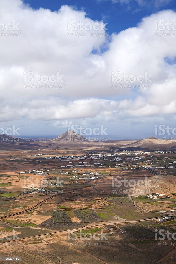 Inland Fuerteventura royalty-free stock photo