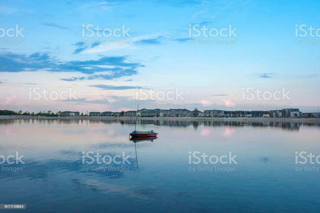 Inland lake in Heiligenhafen stock photo