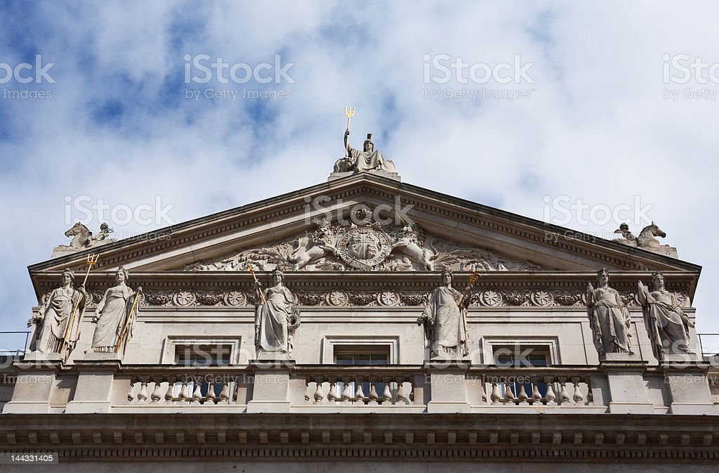 Inland revenue building near Waterloo bridge, London royalty-free stock photo