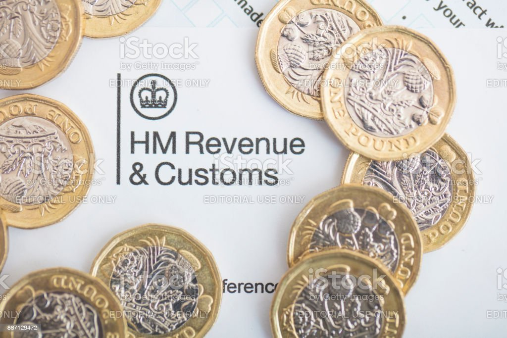 UK Inland Revenue Tax Form stock photo