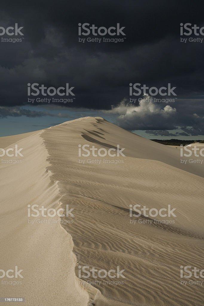 inland sand dune royalty-free stock photo