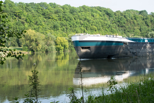 inland shipping on a river