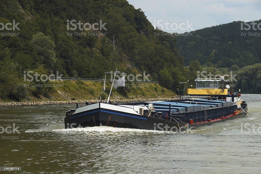 Inland Vessel royalty-free stock photo