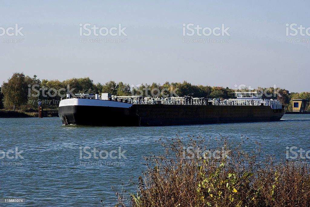 inland waterway transportation stock photo