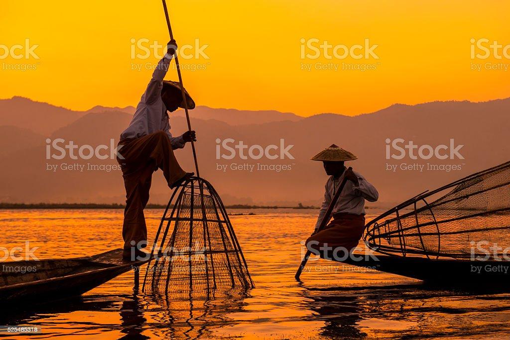 Inle lake Myanmar stock photo