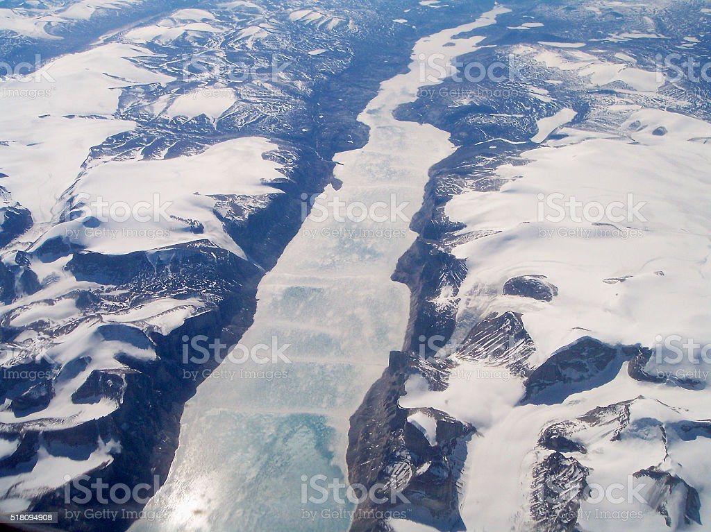 Inlet on Baffin Island stock photo