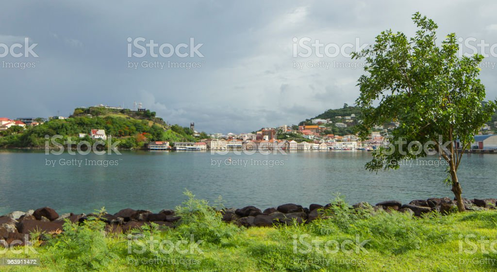 Inlet view in Grenada stock photo