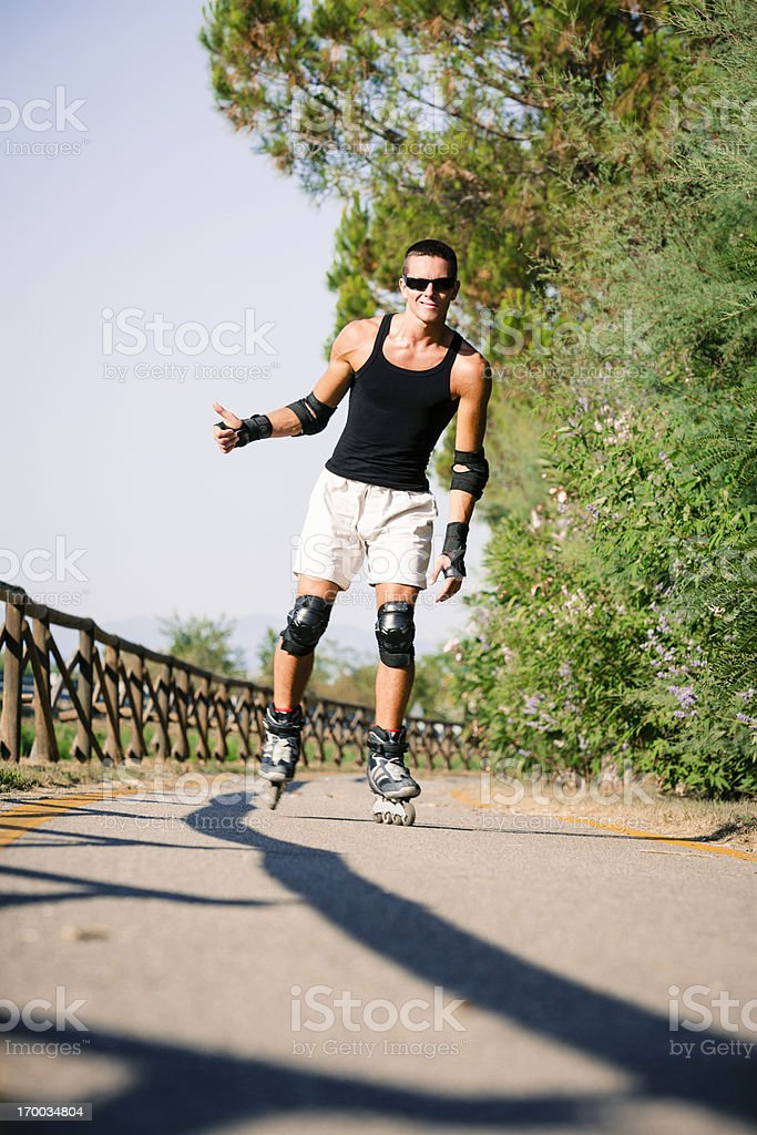 Inline Skater in action royalty-free stock photo