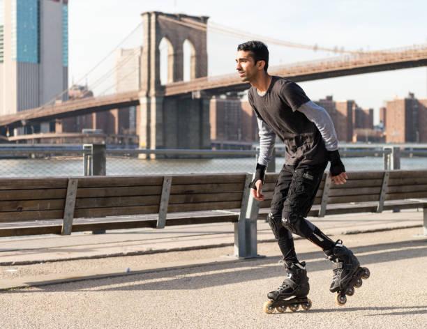 Inline Skating in New York stock photo