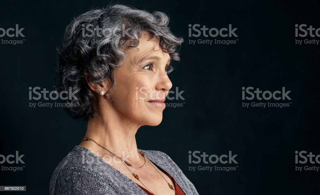 Inner beauty is ageless stock photo