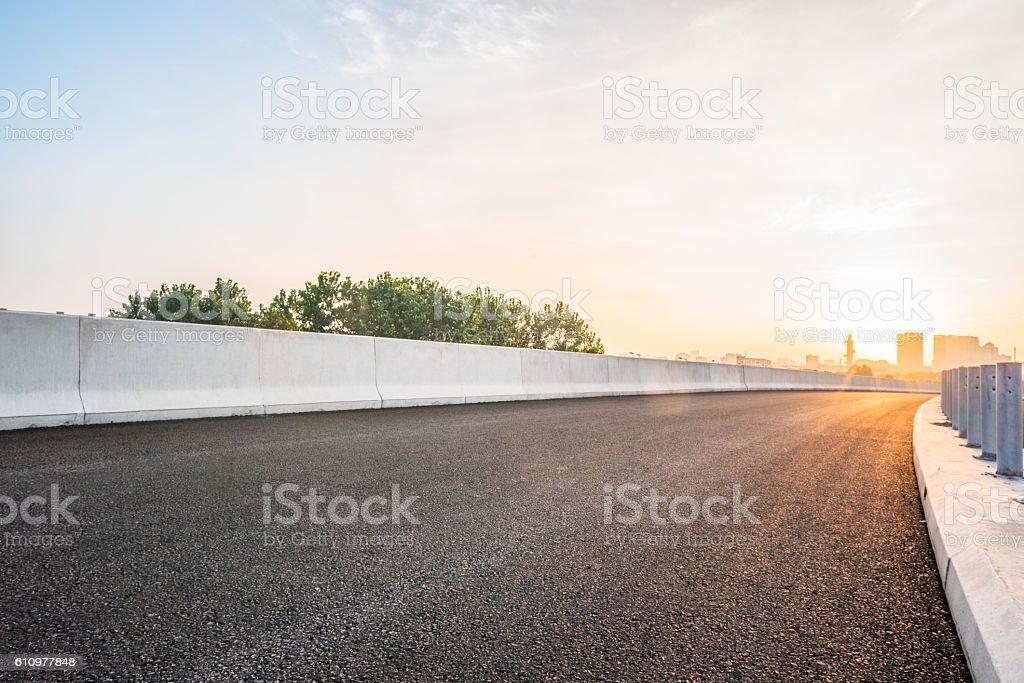 inner city highway stock photo