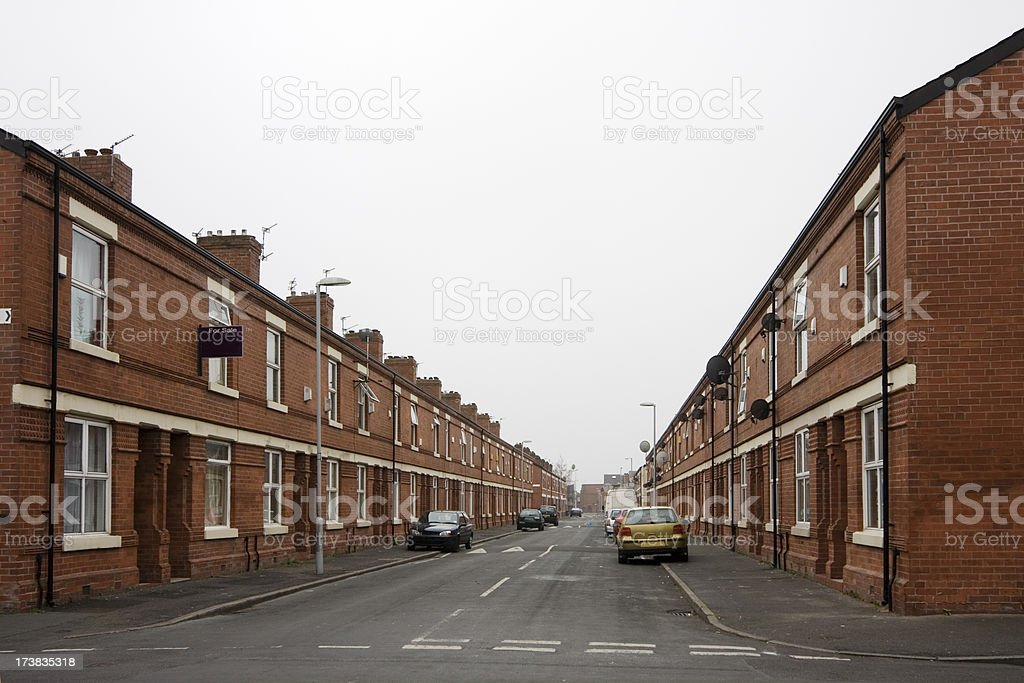 Inner city housing royalty-free stock photo