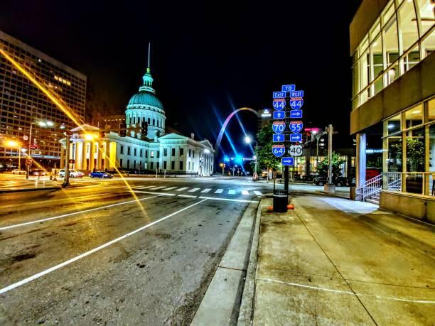 聖路易斯密蘇里州內城 - st louis 個照片及圖片檔