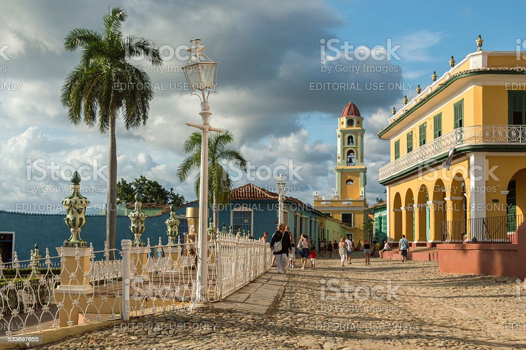 Inner city of Trinidad, Cuba stock photo