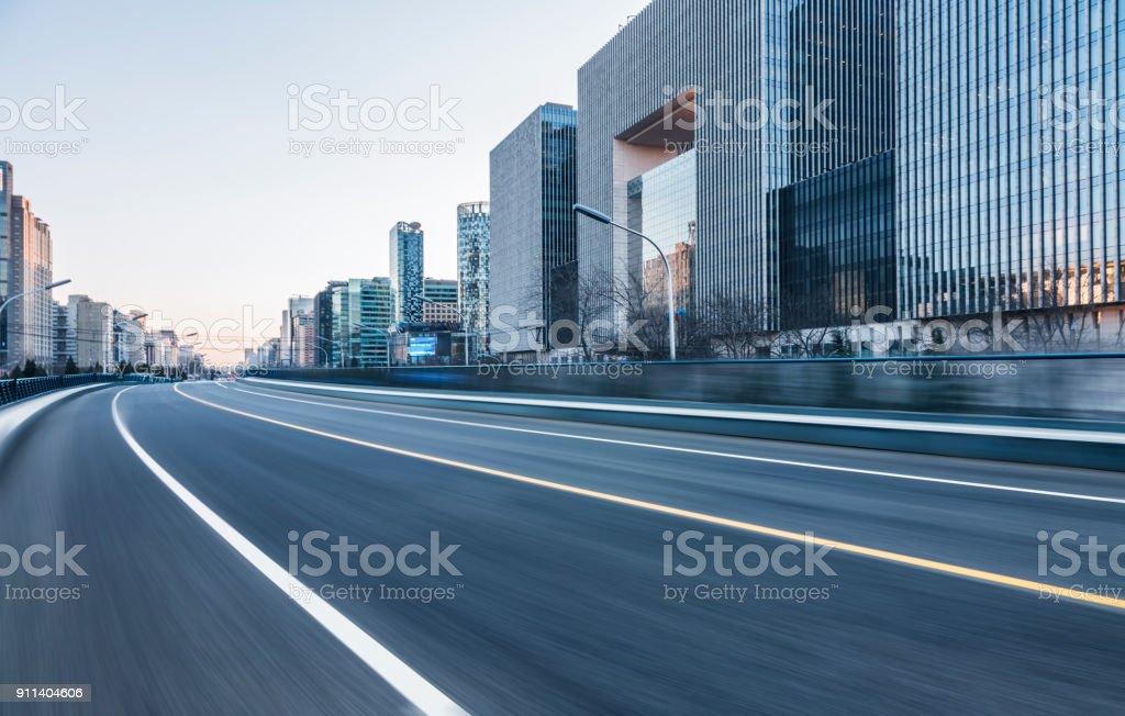 inner city road stock photo