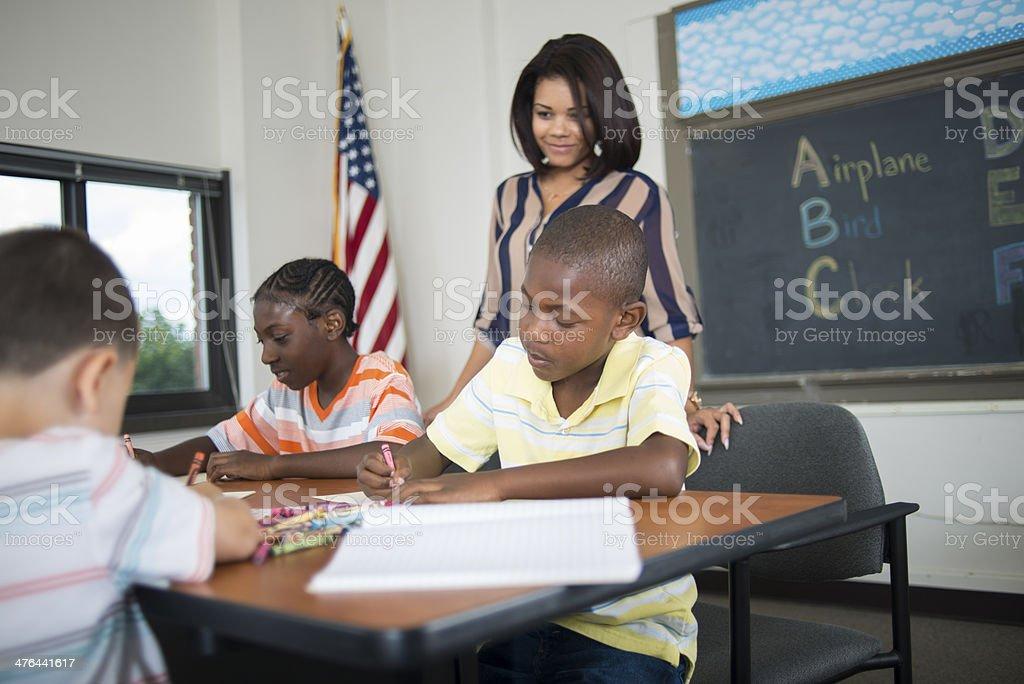 Inner City School stock photo