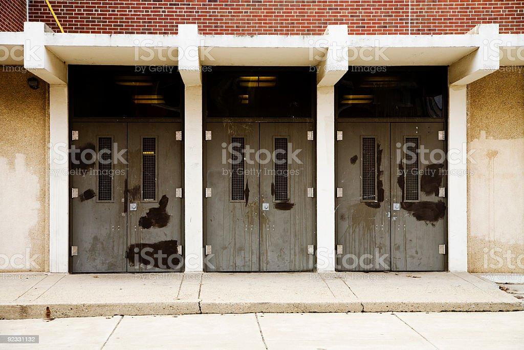 inner city school royalty-free stock photo