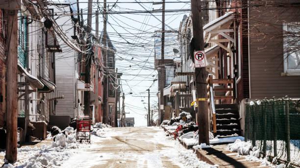 Inner city streets - Allentown, Pennsylvania stock photo