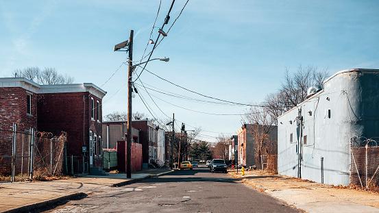 istock Inner city streets - Camden, NJ 868522660
