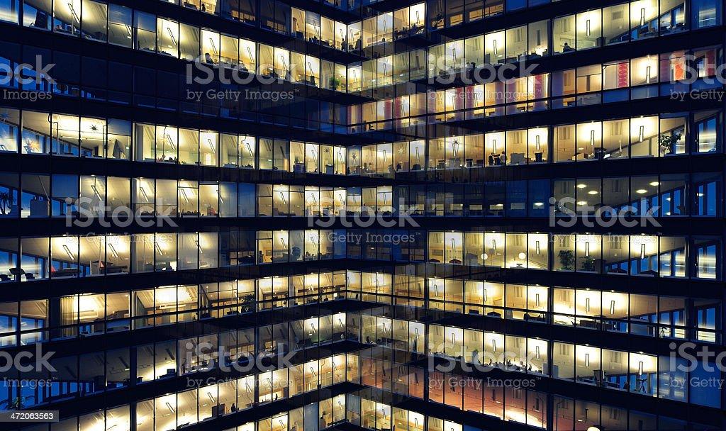 Inner corner of office building stock photo