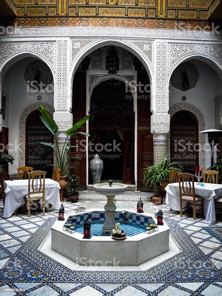 Inner courtyard in Fez Morocco