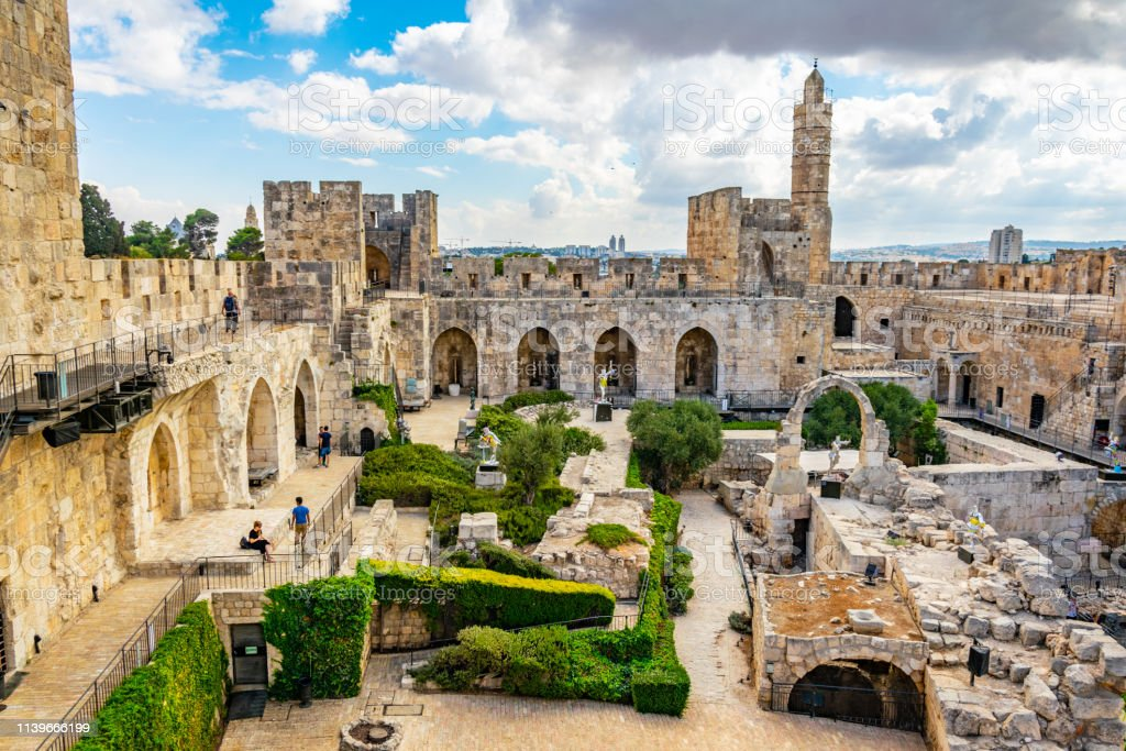 Inner Courtyard Of The Tower Of David In Jerusalem Israel Stock Photo - Download Image Now - iStock
