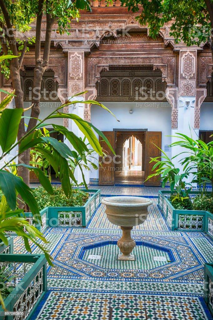 Innenhof öffentlichen Bahia-Palast, Marrakesch – Foto