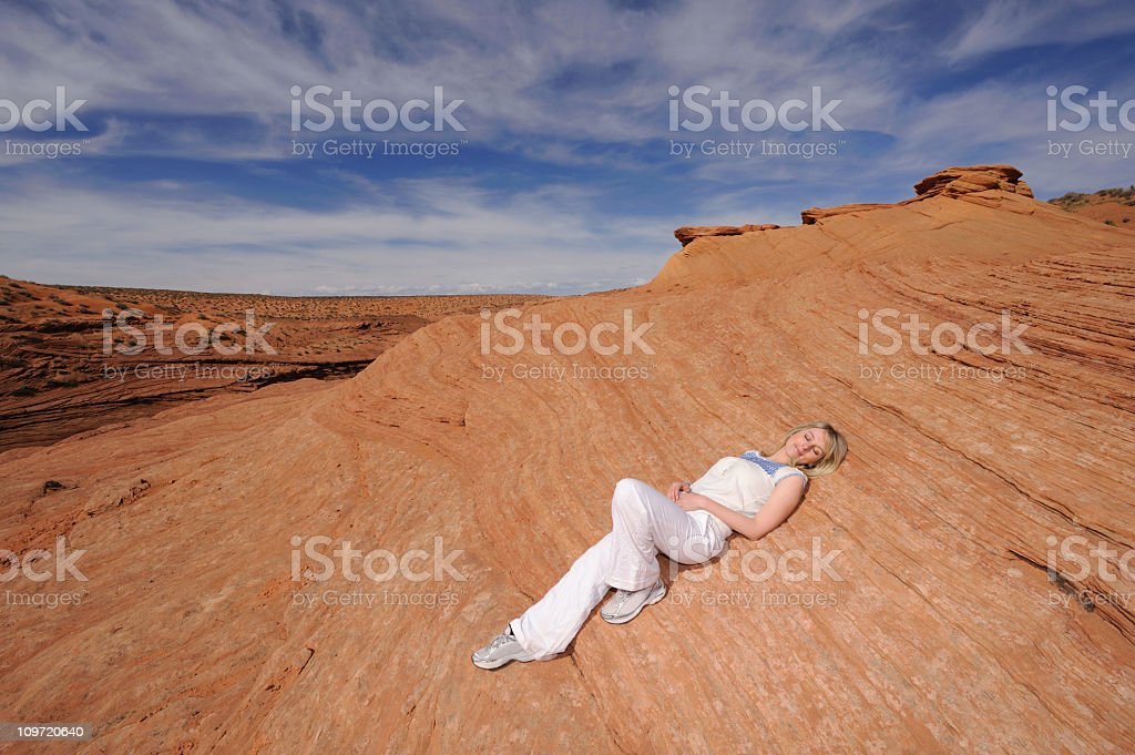 Inner Freedom - the Wave Canyon, USA royalty-free stock photo