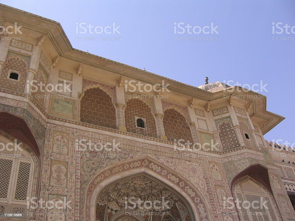 Inner Gate / Door of Amber Palace, Jaipur, India royalty-free stock photo