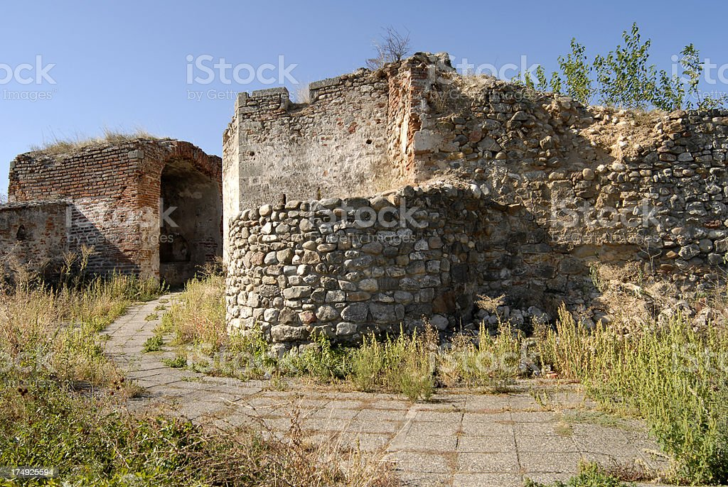Inner Gate of Medieval Fortress - Fеtislаm royalty-free stock photo