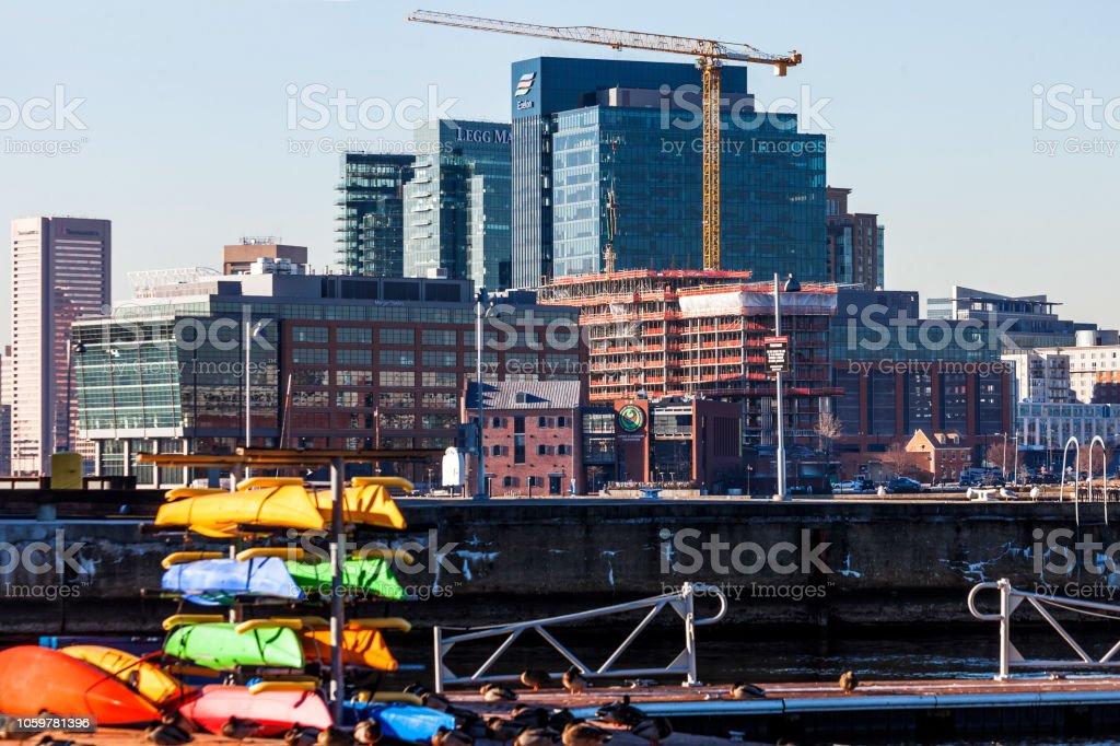 Inner Harbor, Baltimore stock photo