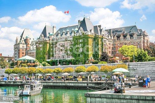Beautiful view of Inner Harbour of Victoria, British Columbia, Canada.