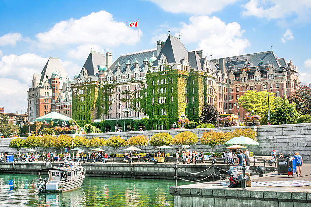 Inner Harbour of Victoria, BC, Canada Beautiful view of Inner Harbour of Victoria, British Columbia, Canada. british columbia stock pictures, royalty-free photos & images