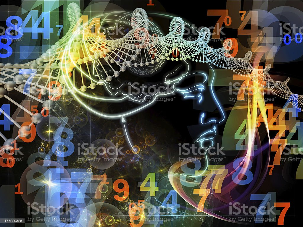 Inner Life of Human Mind stock photo